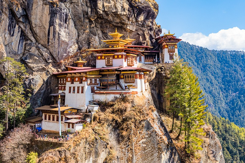 Taktsang Lhakhang (Tiger's Nest) temple outside of Paro, Bhutan