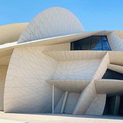 Striking architecture of Doha's National Museum of Qatar