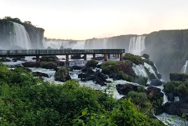 Platform walkways at Iguazu Fall, Brazil