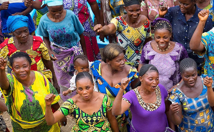 Women in the Democratic Republic of Congo support by the Global Fund for Women