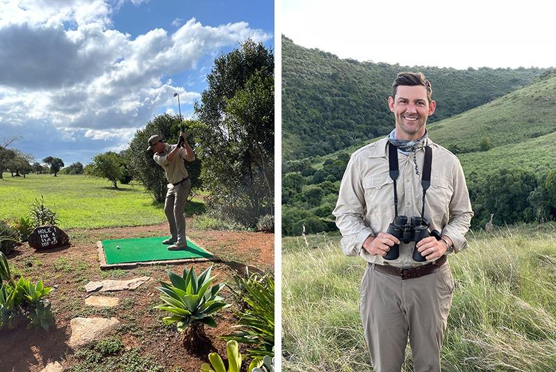 GeoEx guest enjoying golfing and game drives in Kenya