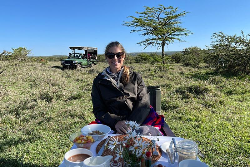 Breakfast in the bush in Kenya