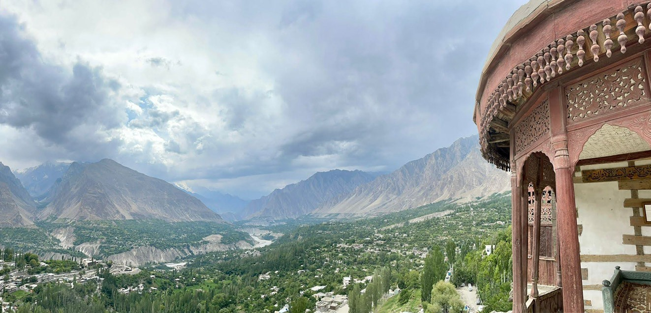 View over the Hunza Valley, Pakistan
