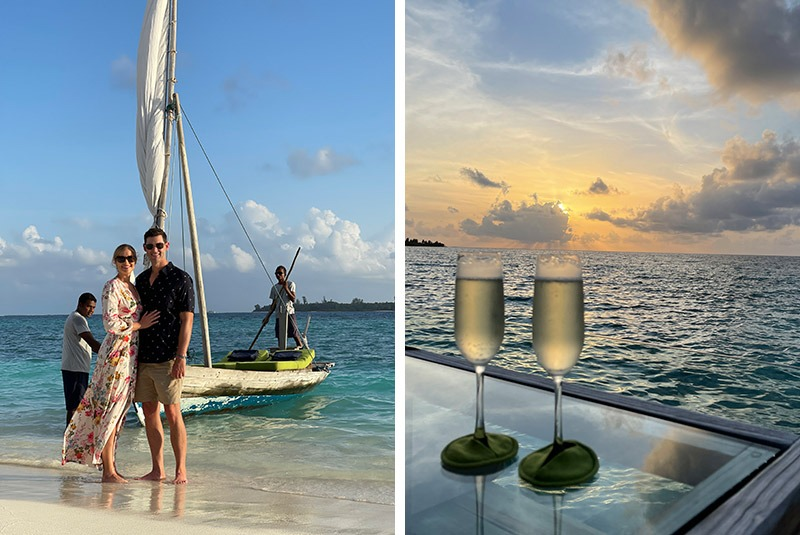 Sunset dhoni cruise with champagne in the Maldives
